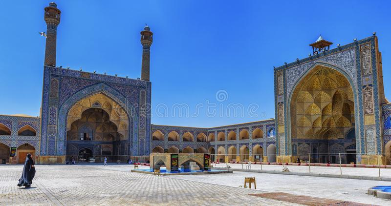A Lady on the Mosque stock photography