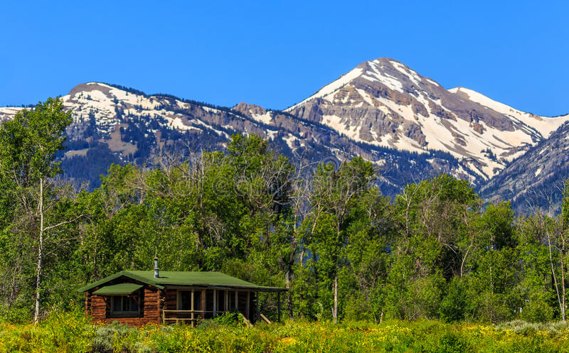 Landscape Mountains Home royalty free stock photo