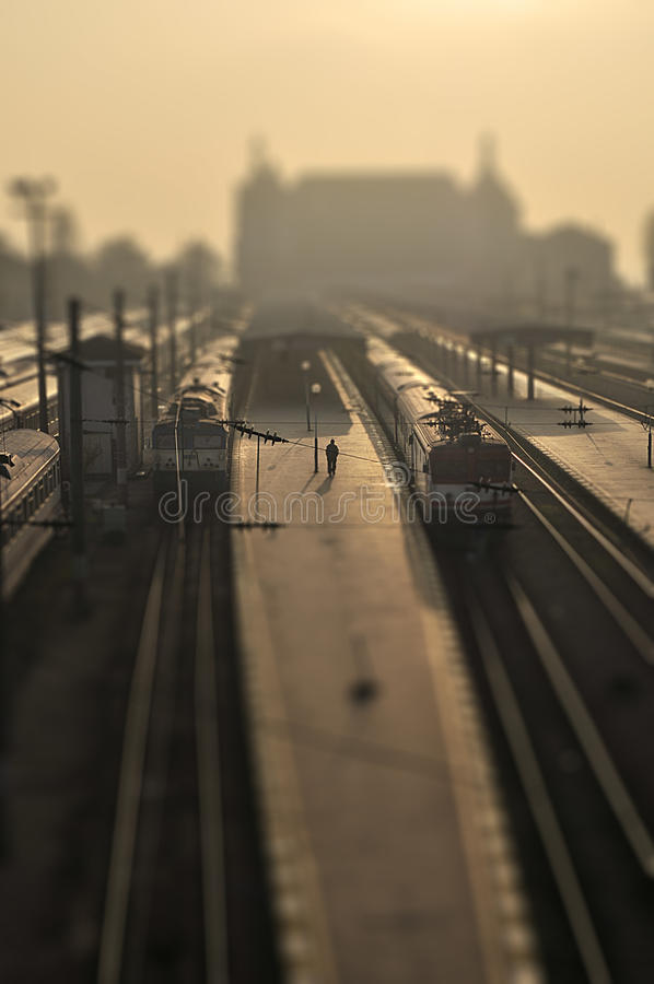 Free Solitary Man In A Train Station Royalty Free Stock Photo - 20966665