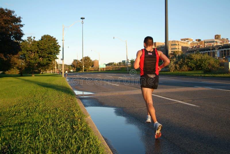 Solitary Runner stock photos