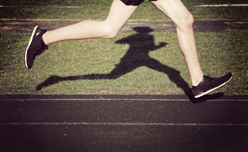 Solitary runner royalty free stock photography