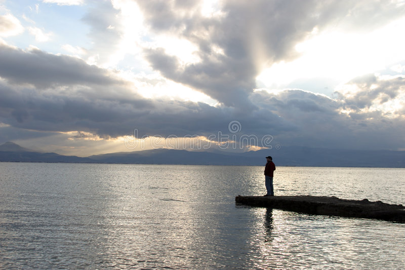 Solitude stock photography