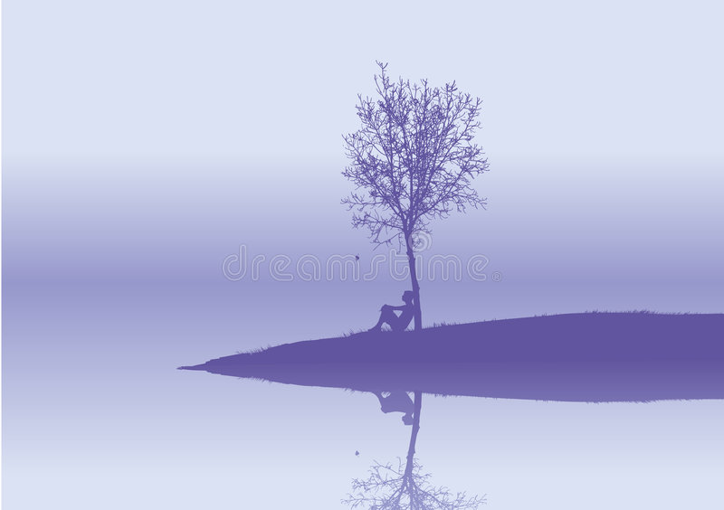 Solitude illustration libre de droits