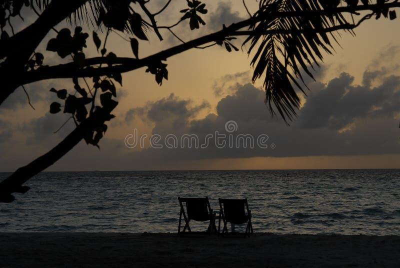 Solitude maldivienne d'île images libres de droits