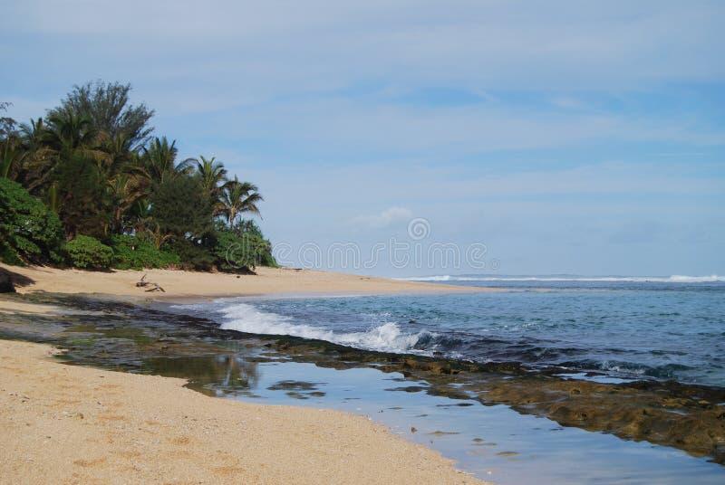 Solitude sur la plage d'île photographie stock