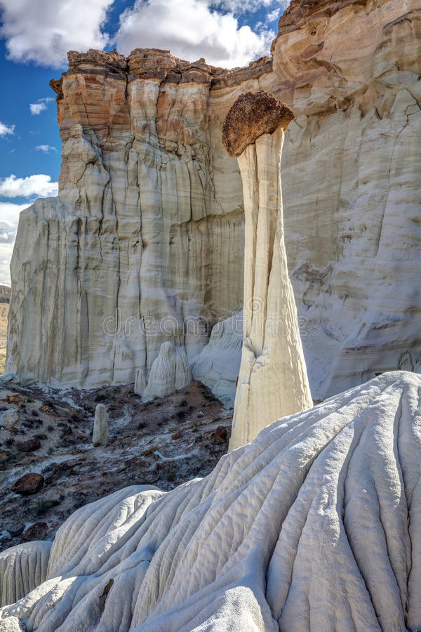 Solitude of the Wahweap Hoodoos stock photos