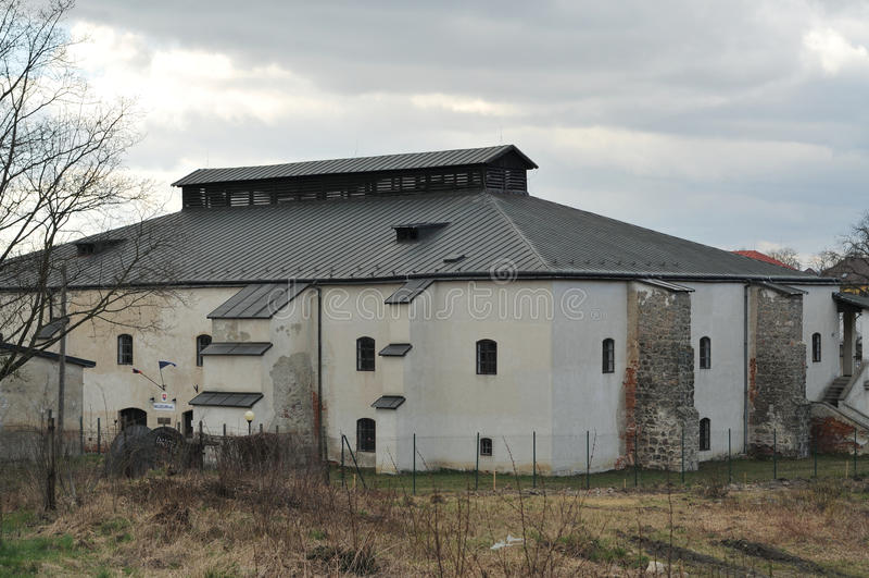 Solivar technical museum. Of salt mining stock images