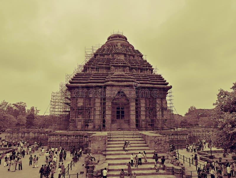 Solkornarktemplet orissa Indien arkivfoton