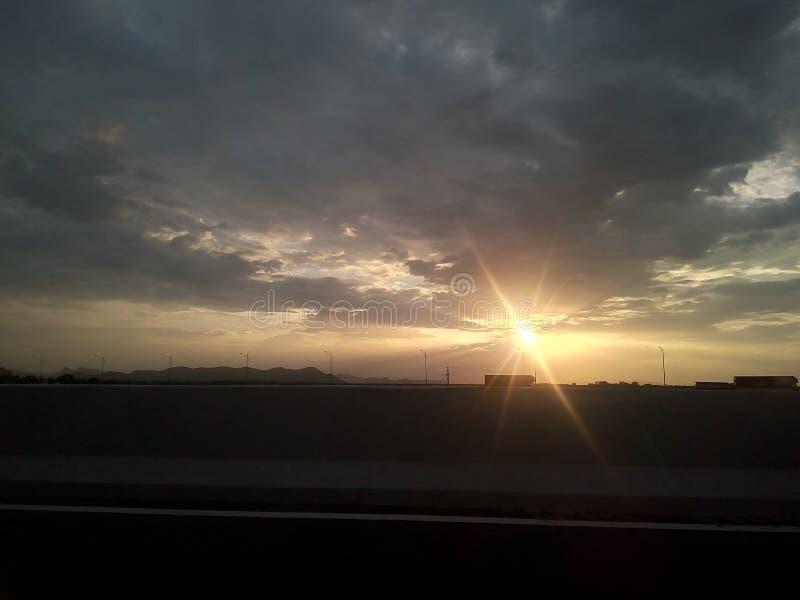 Sollöneförhöjning arkivfoto