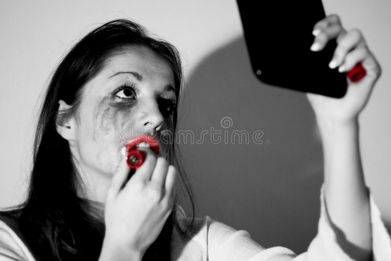 Sollecitare-sguardo teenager fotografia stock