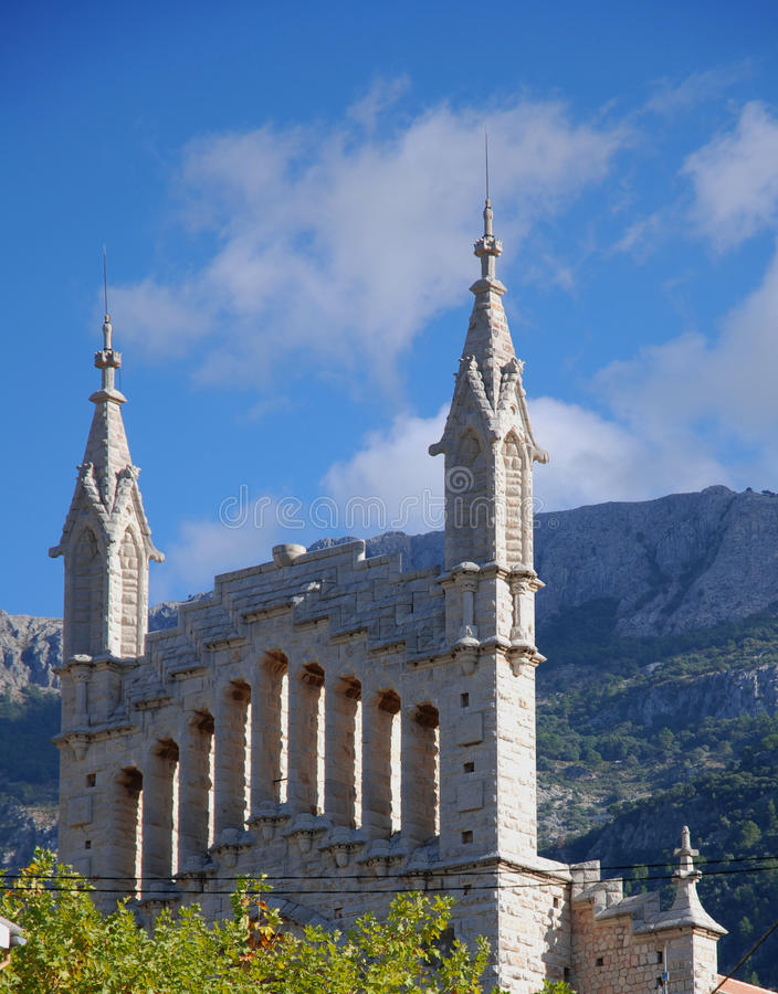 Download Soller Cathedral detail stock image. Image of color, island - 11320165