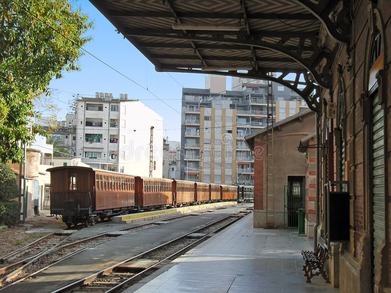 Download Soller Train Station stock photo. Image of transportation - 4417352