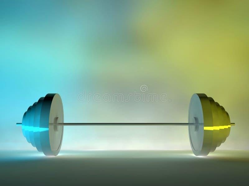sollevamento dell'acciaio 3d illustrazione vettoriale