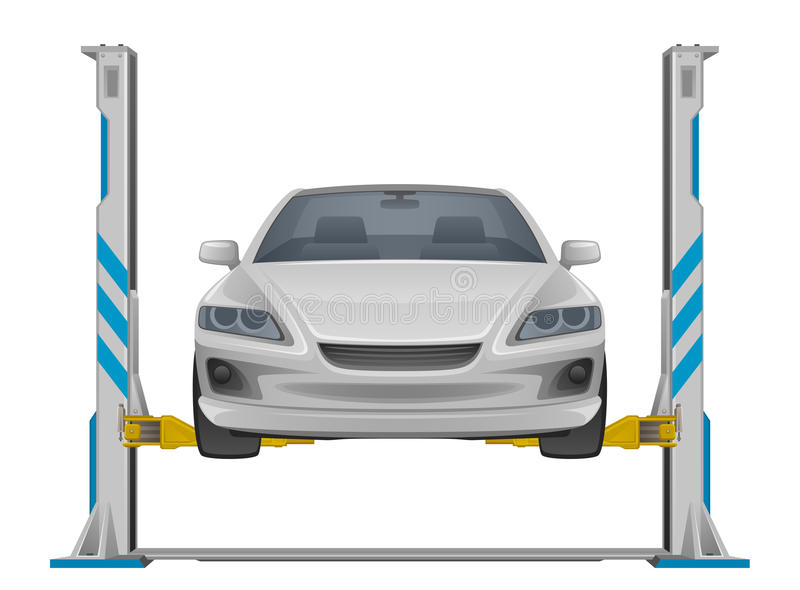 Sollevamento dell'automobile royalty illustrazione gratis