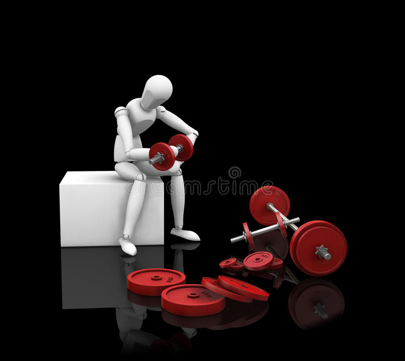 Sollevamento di peso illustrazione vettoriale