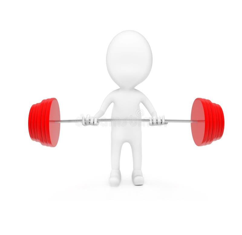 sollevamento pesi dell'uomo 3d illustrazione di stock