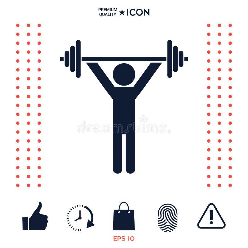 Download Sollevamento Pesi, Icona Di Addestramento Della Testa Di Legno Illustrazione Vettoriale - Illustrazione di illustrazione, barbell: 117977547