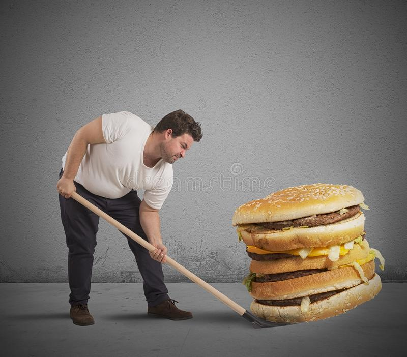 Sollevi il panino gigante immagine stock libera da diritti