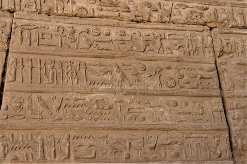 Sollievi dei geroglifici egiziani fotografia stock libera da diritti