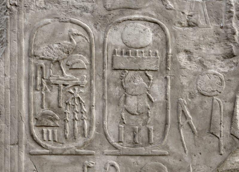 Sollievo al tempio di Luxor nell'Egitto immagini stock