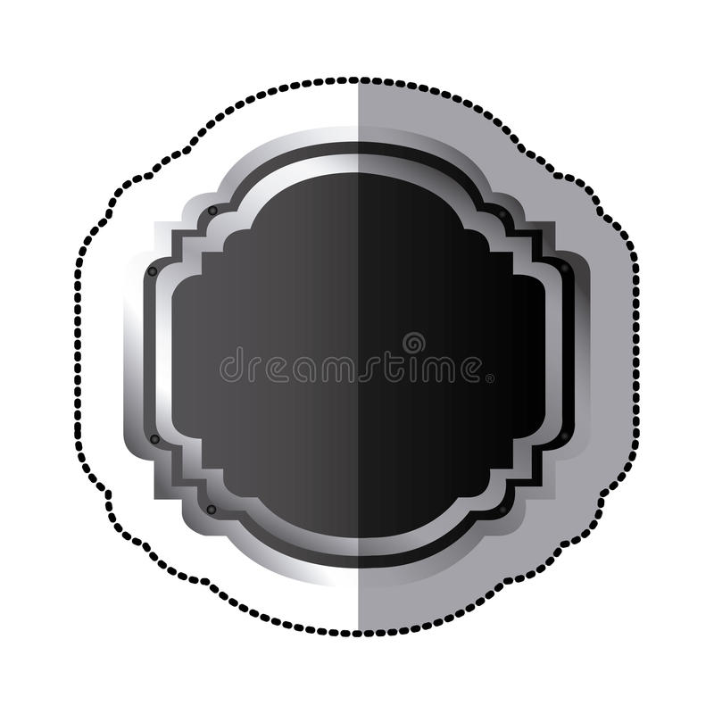 sollievo decorativo araldico elegante della struttura della siluetta nera dell'autoadesivo illustrazione di stock