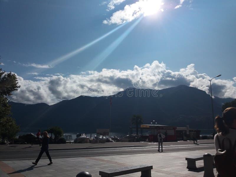 Solljus Como royaltyfri foto