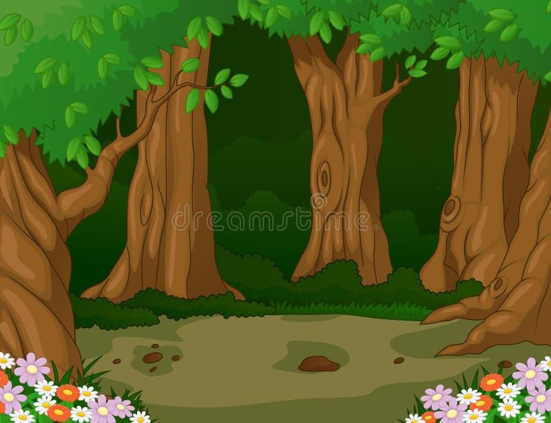 solljus för oak för skog för design för kant för ekollonhöstbakgrund royaltyfri illustrationer