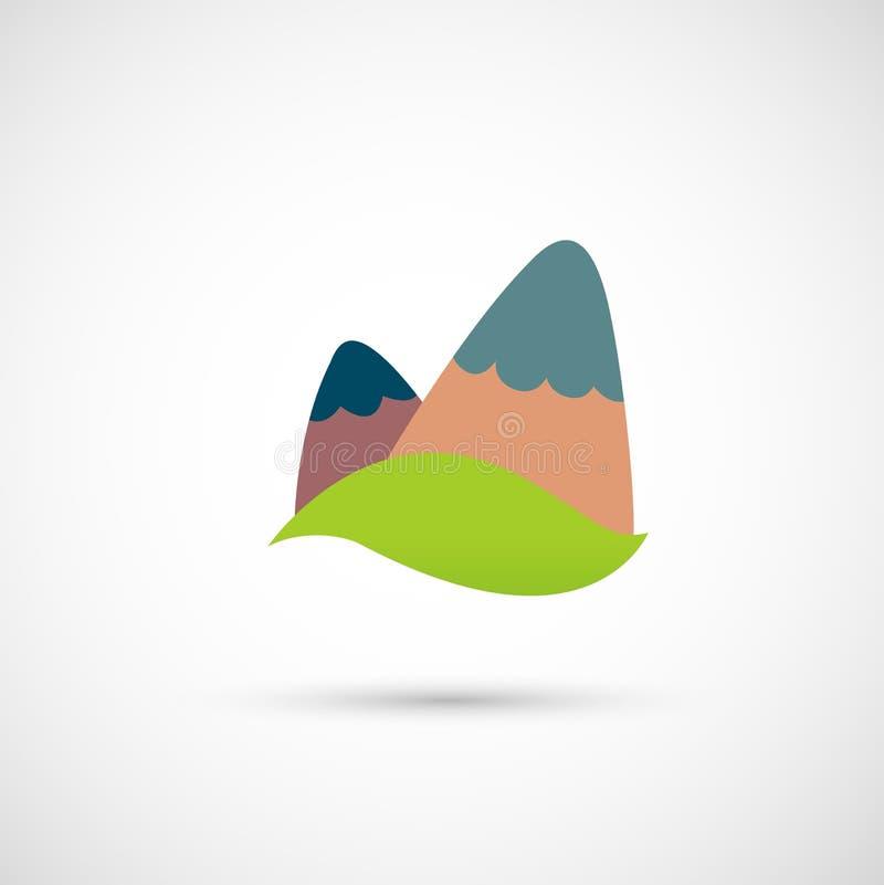 solljus för område för sammansättningsberg naturligt stock illustrationer