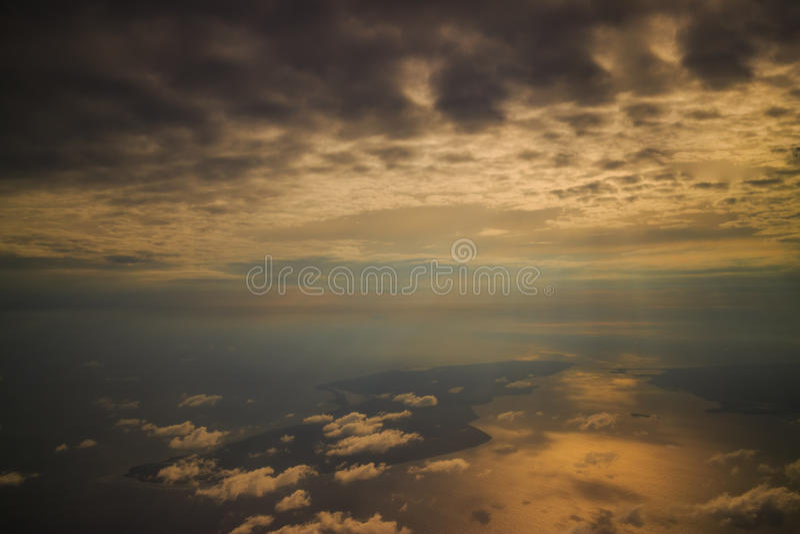 Solljus i varm färg royaltyfri foto