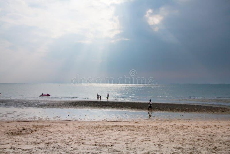 Solljus och havet royaltyfri foto