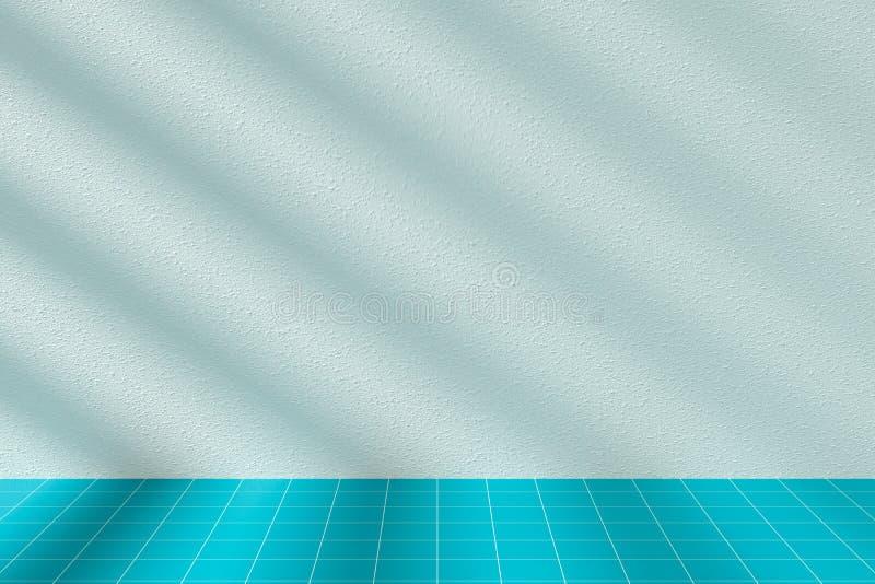 Solljus och skugga i rummet stock illustrationer