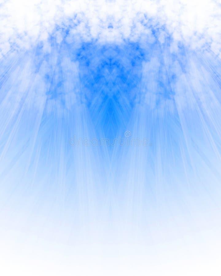 Solljus som är glänsande till och med molnet royaltyfri illustrationer