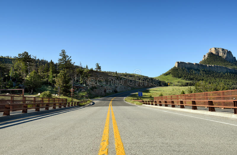 Solljusbro Wyoming royaltyfria foton