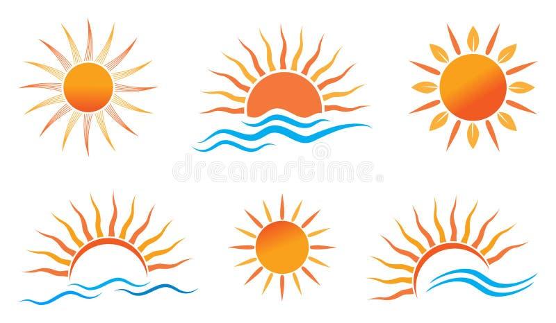 Sollogo royaltyfri illustrationer