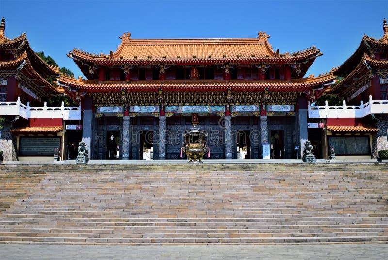 Solmåne sjö Wen Wu Temple, Taiwan arkivfoton