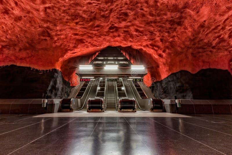 Solna Centrum, Stockholm Metro, Stockholm, Sweden. From the Stockholm Metro underground gallery series royalty free stock photo
