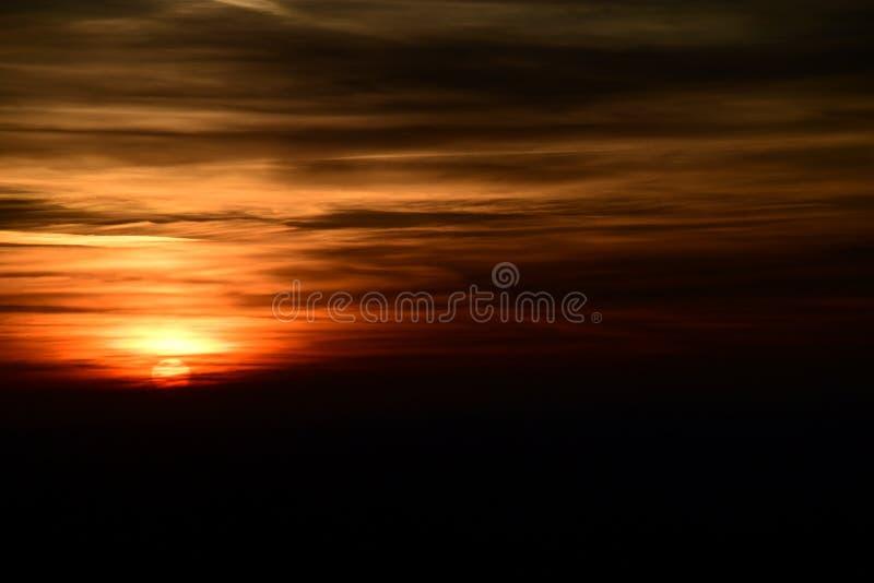 Solnedgång över chilternsna royaltyfri foto