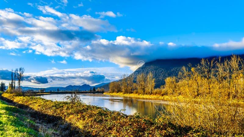 Solnedgång över det Nicomen träsket i British Columbia, Kanada arkivfoton