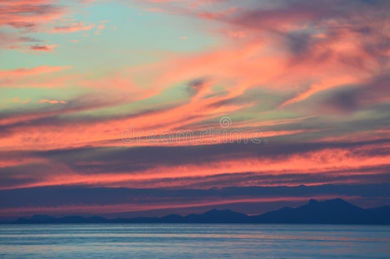 Solnedgång över Monaco fotografering för bildbyråer