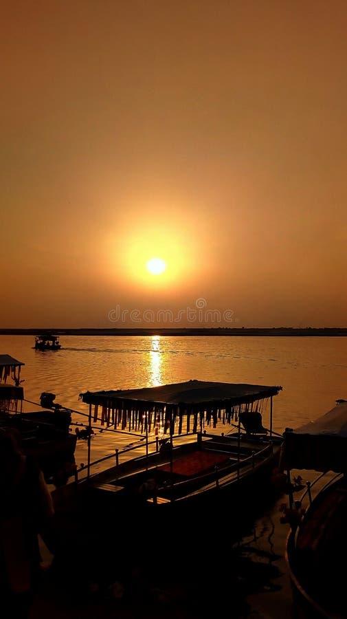 Solnedgång fotografering för bildbyråer