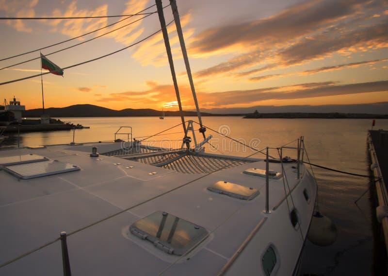 Solnedgång. arkivbilder