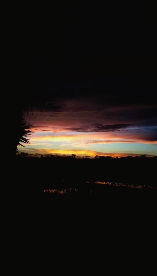 solnedgång 3 arkivfoto