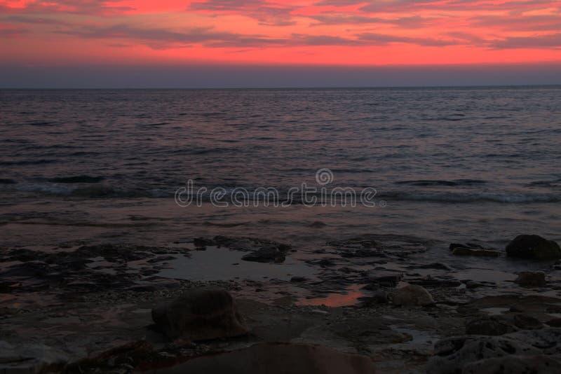 solnedgång 2 arkivfoto