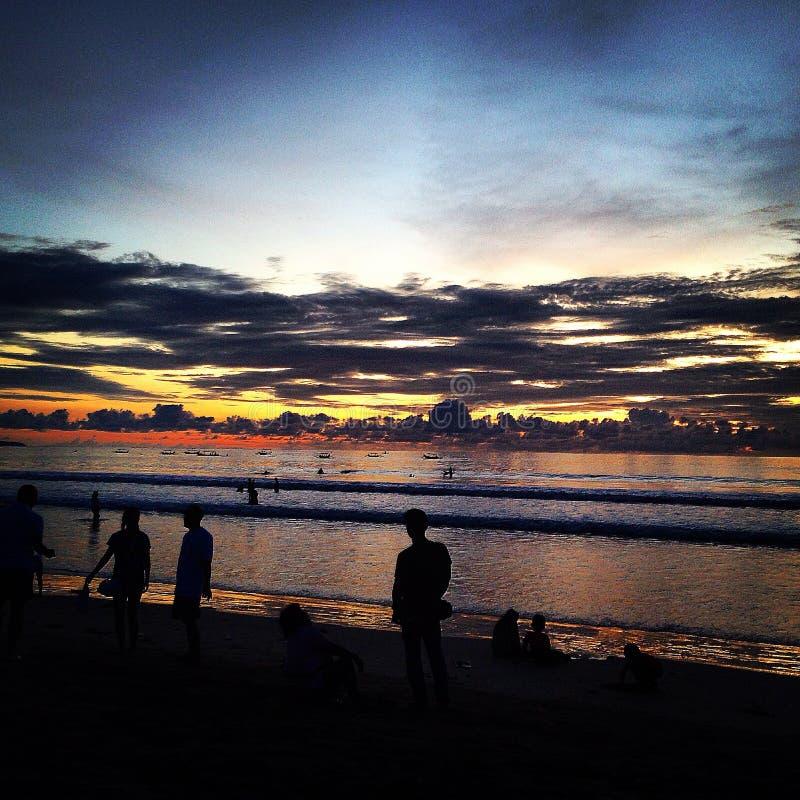 Solnedgång av Kuta royaltyfri bild