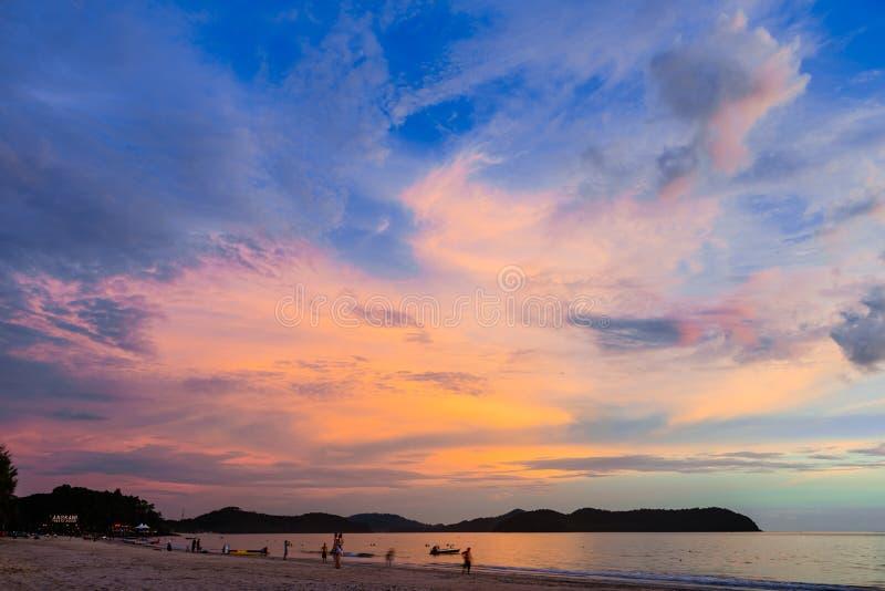 Solnedgång av Langkawi royaltyfria foton