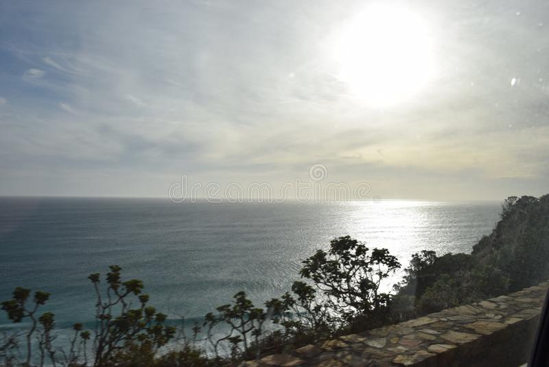 Solnedgång Cape Town arkivfoto