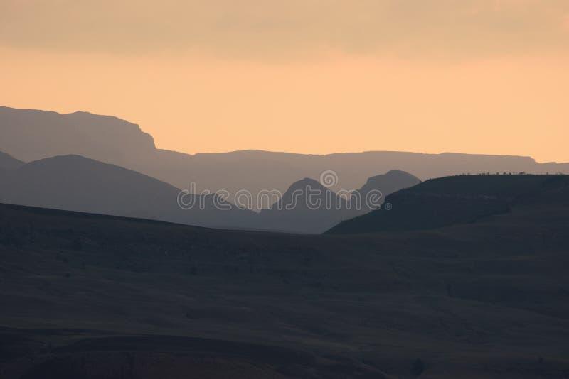 Solnedgång Drakensburg Sydafrika arkivfoton