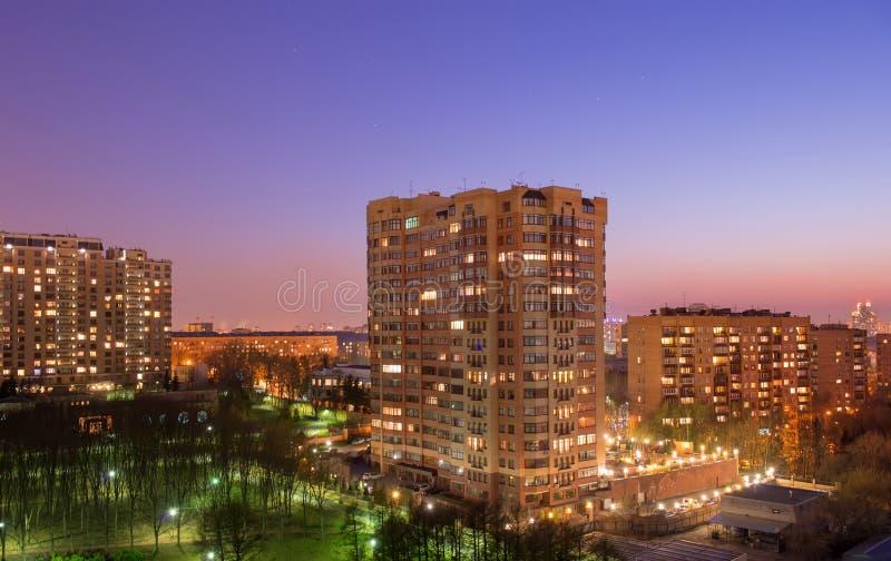Solnedgång för ‹för †för stads royaltyfri bild