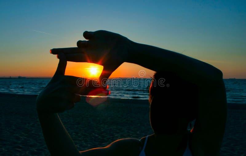 solnedgång för 2 capture royaltyfri foto