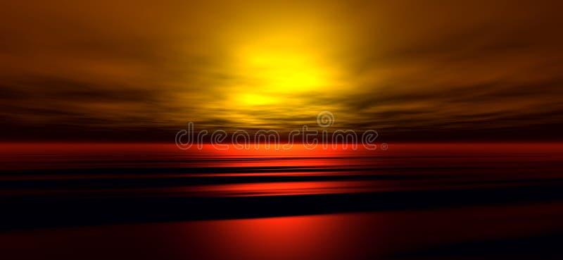 solnedgång för 3 bakgrund royaltyfri illustrationer